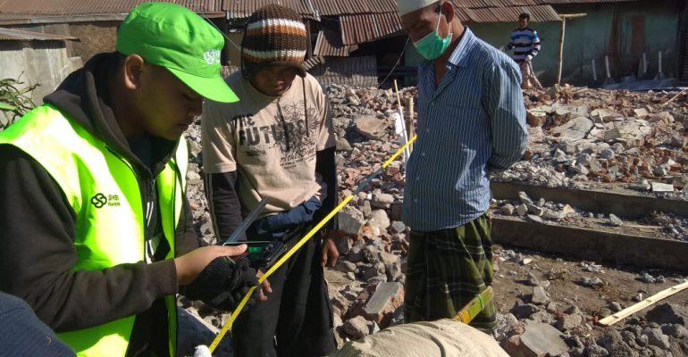let's help lombok. bencana alam, huntara, masjid ramah gempa