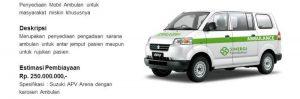 Infaq Pengadaan Ambulance untuk Dhuafa
