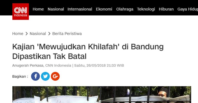 Hak Jawab atas Pemberitaan Situs cnnindonesia