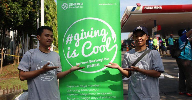 berbagi, giving is cool, milenial, sedekah