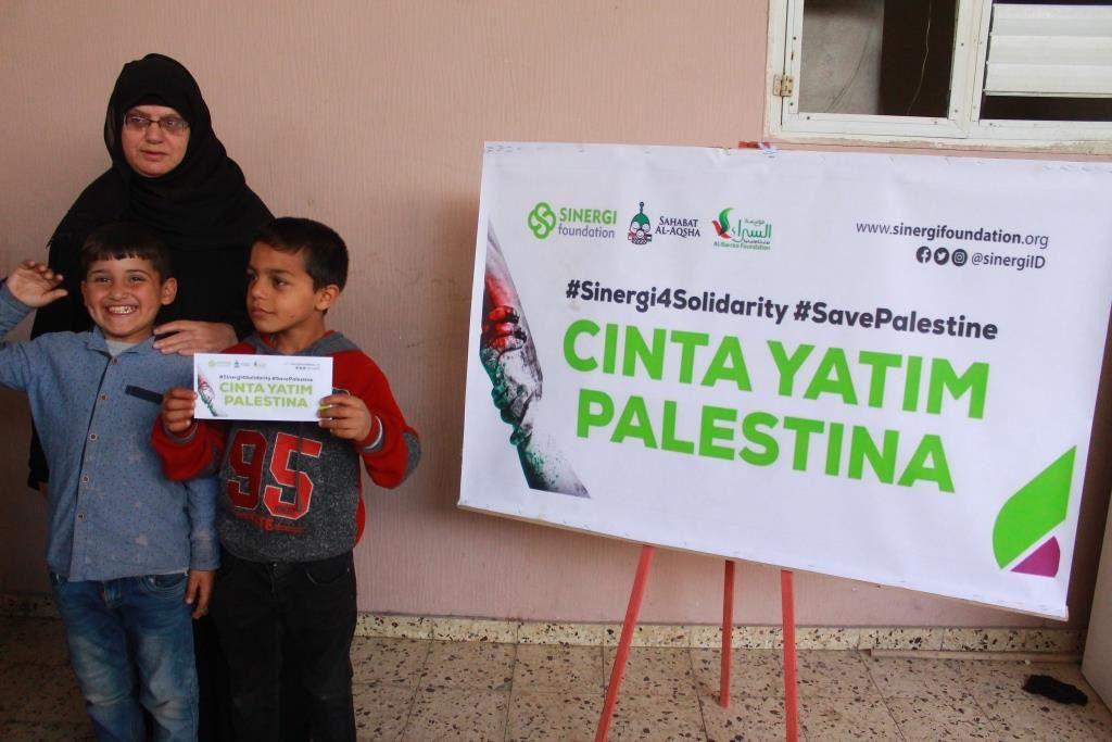 palestina, gaza, santunan anak yatim, yatim