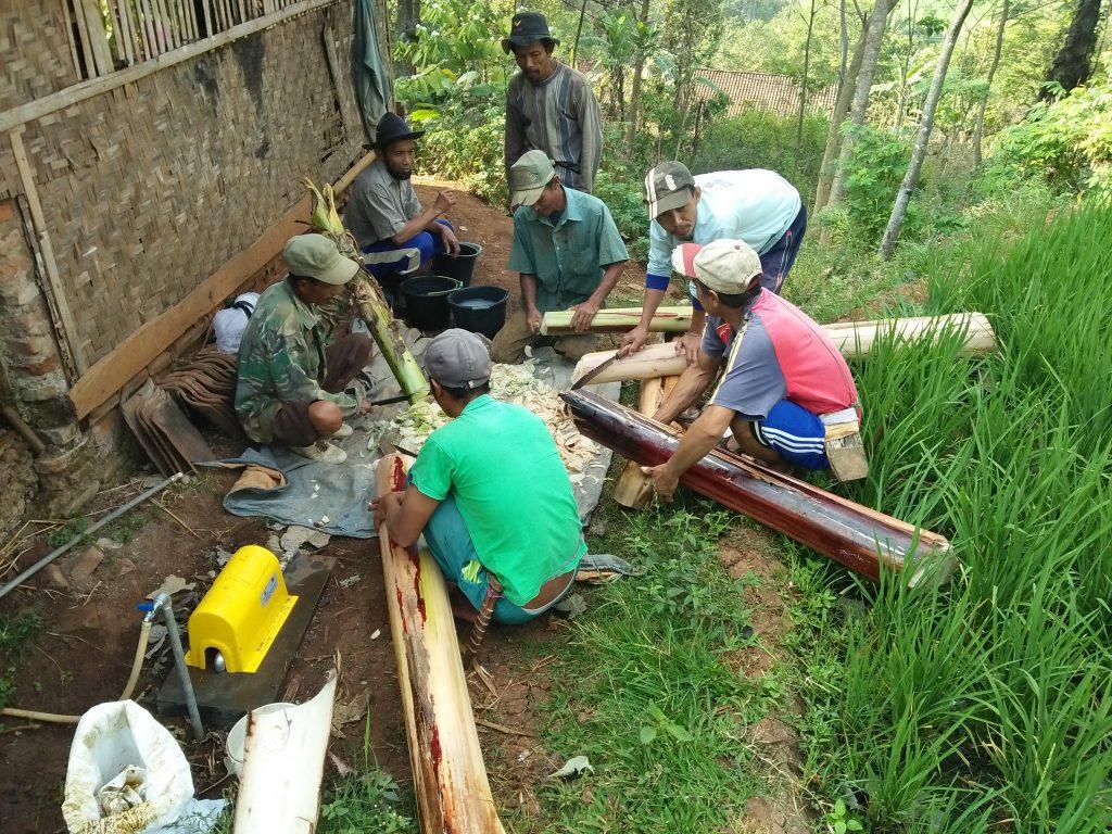 lumbung desa, ciwangi, garut, petani, pupuk organik