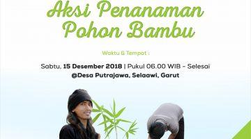 bambu, penanaman pohon, selaawi, penghijauan, green kurban, green akikah
