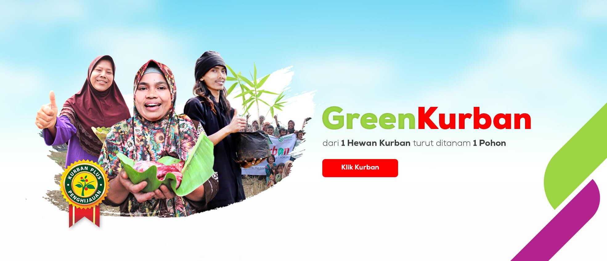 green kurban, kurban peduli, kurban plus penghijauan