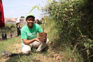 aksi penanaman pohon, green kurban, penghijauan, DAS Cimanuk