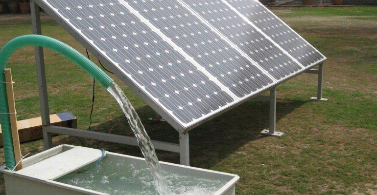 wakaf sumur, sumur wakaf, solar cell