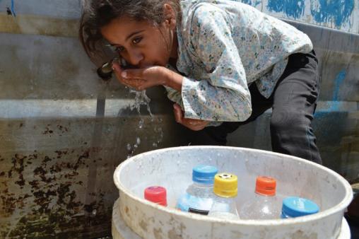 gaza, palestina, krisis air, sumur, wakaf