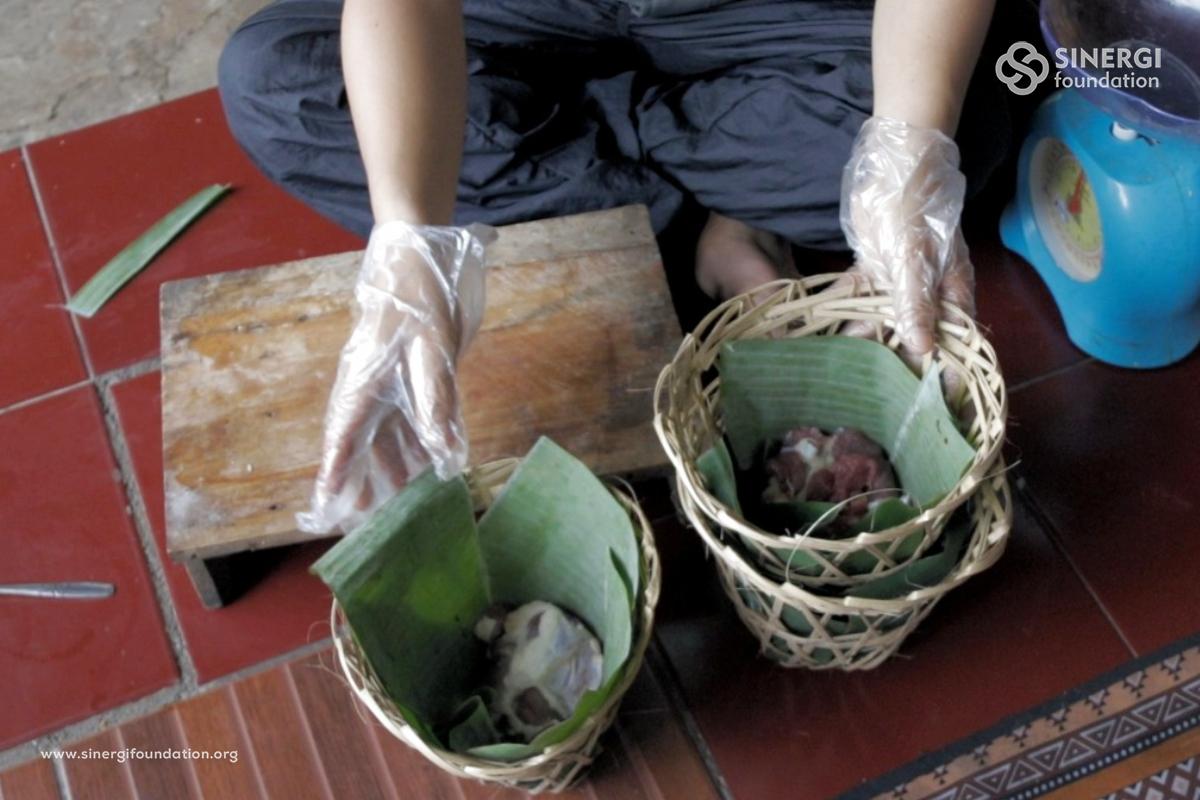 bonsang, green kurban, idul adha, plastik