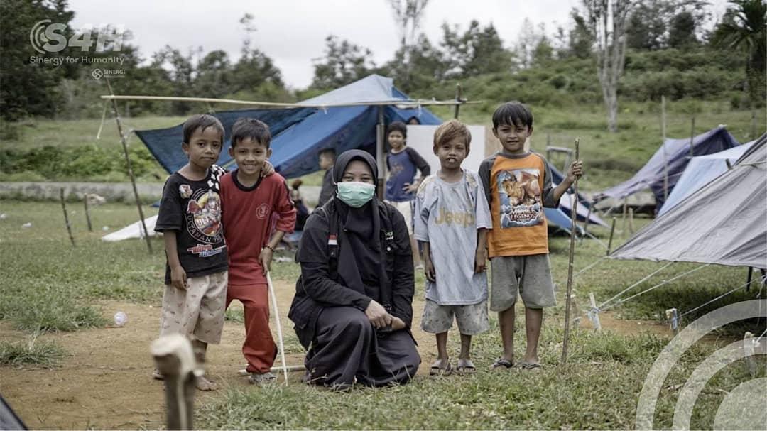 sinergy 4 humanity, s4h, majene, gempa bumi, shelter darurat