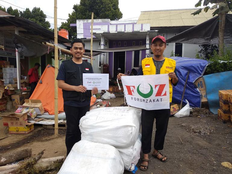 bantuan gempa lombok, sinergi foundation, foz